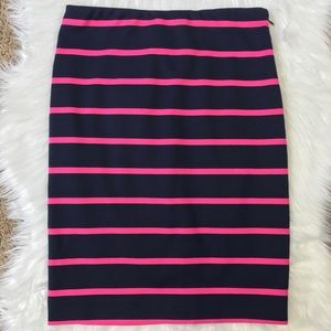 NWOT The Limited Stretch Striped Pencil Skirt 0